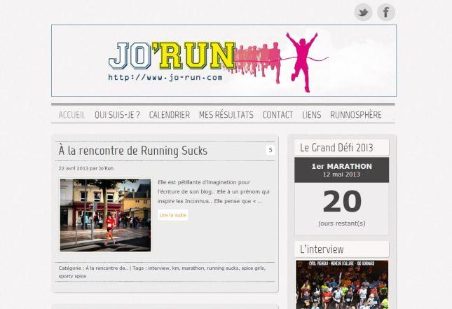 Accueil Jo'Run