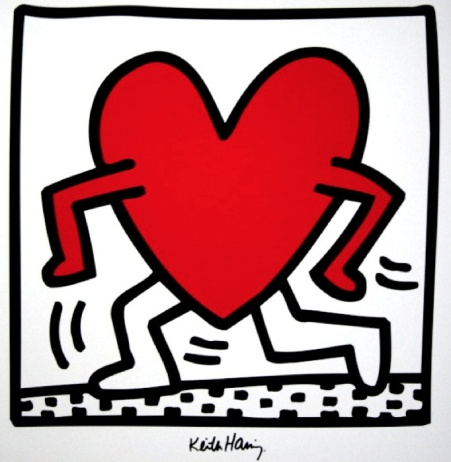 Keith Haring - Running Heart