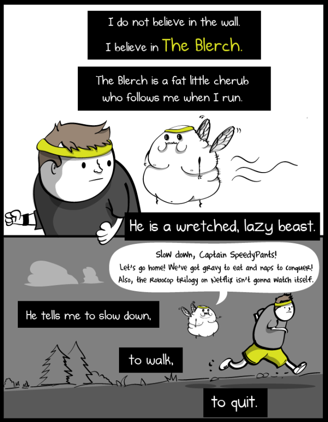 """The Terrible and Wonderful reasons why I run long distances"" by The Oatmeal"