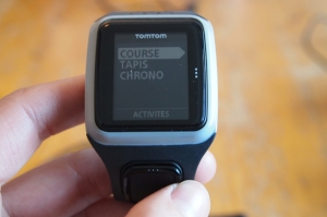 TomTom Runner menu